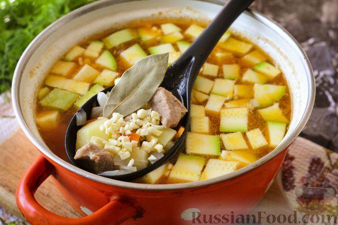 Фото приготовления рецепта: Суп из говядины с кабачками - шаг №12