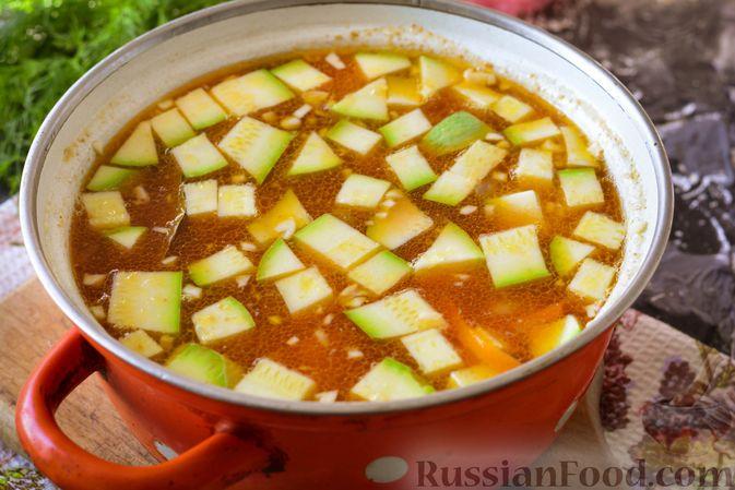 Фото приготовления рецепта: Суп из говядины с кабачками - шаг №13