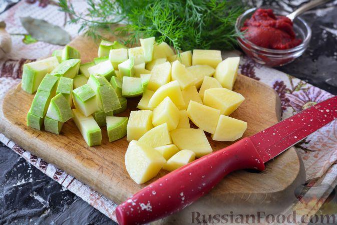 Фото приготовления рецепта: Суп из говядины с кабачками - шаг №7