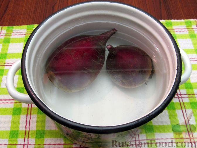 Фото приготовления рецепта: Винегрет с мидиями - шаг №3