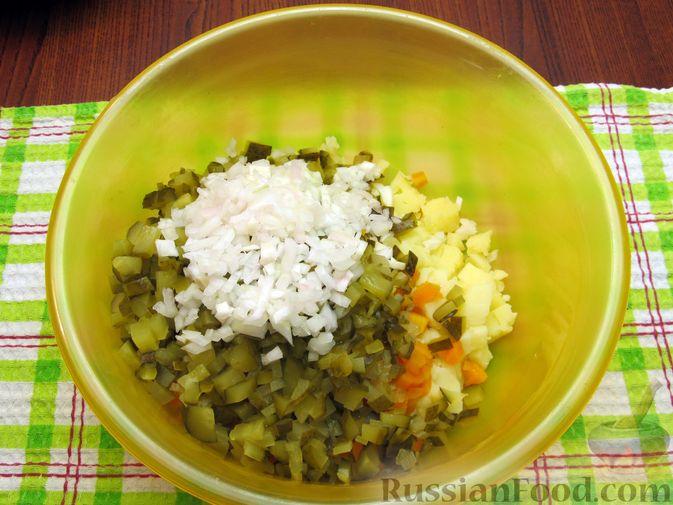 Фото приготовления рецепта: Винегрет с мидиями - шаг №10