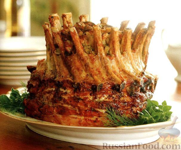 Корона из свиной корейки рецепт с фото