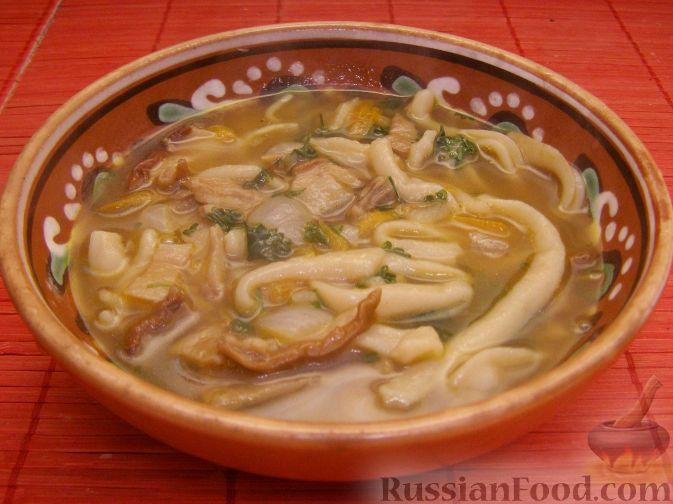 суп из сушеных грибов с картофелем и вермишелью