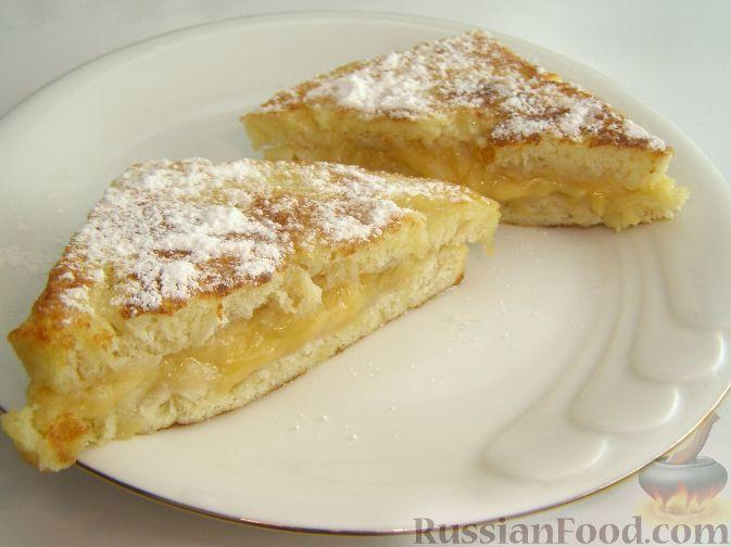 Рецепт Французские тосты с бананами и сыром