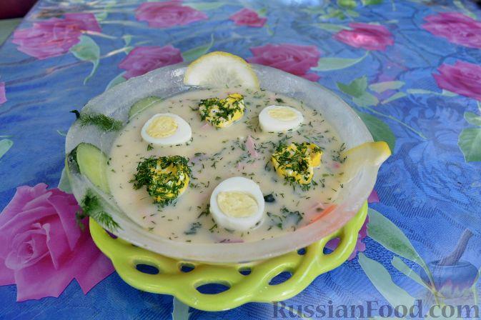 Рецепт Окрошка в ледяной тарелке