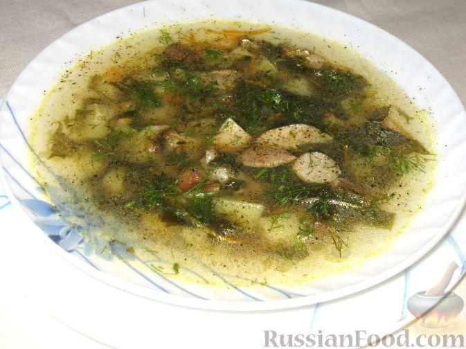 Рецепт Щавельник с белыми грибами