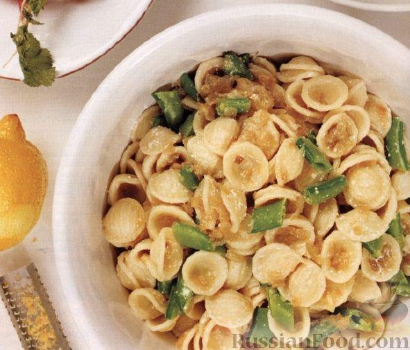 Рецепт Макароны ракушки с рикоттой и зеленым горошком