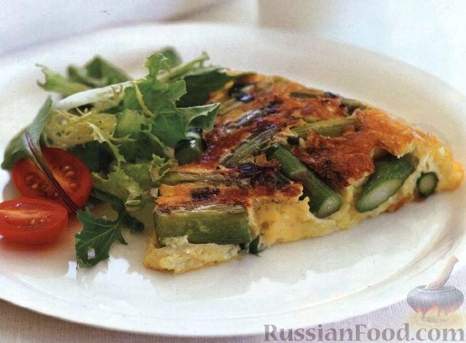Рецепт Фриттата со спаржей и зеленым луком