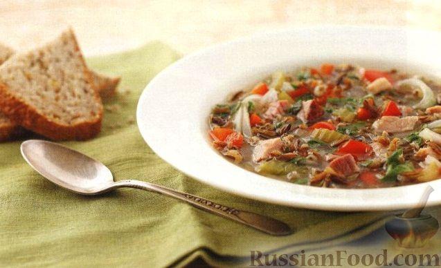 Рецепт Суп с ветчиной и диким рисом (в медленноварке)