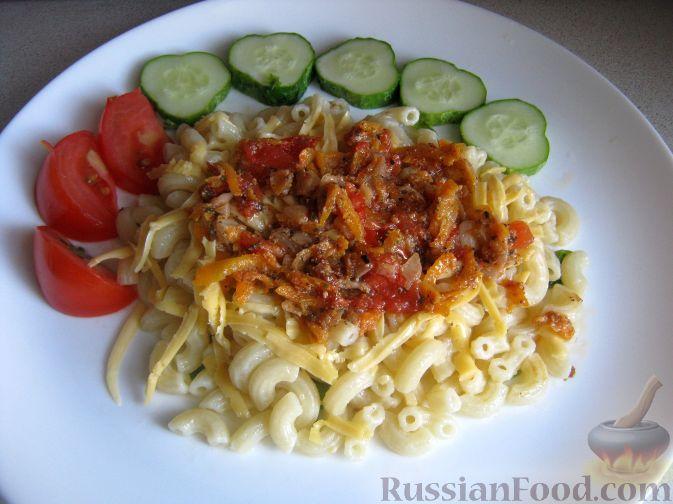 Рецепт Паста (макароны) с овощами и сыром