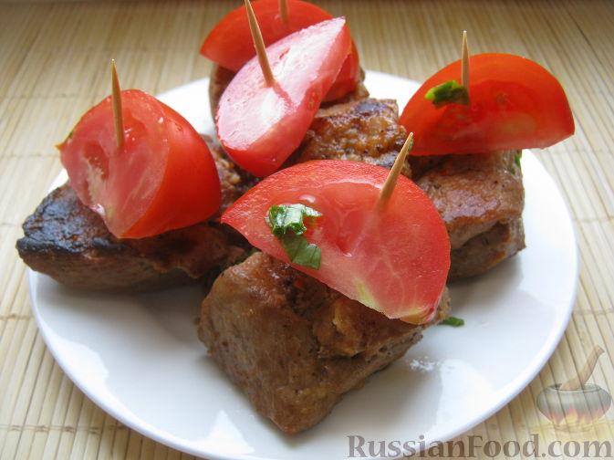 Рецепт Шашлык на сковороде (из свинины)