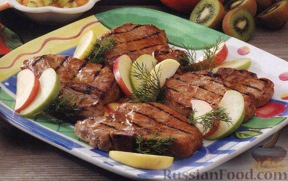 Рецепт Свинина, жареная на гриле