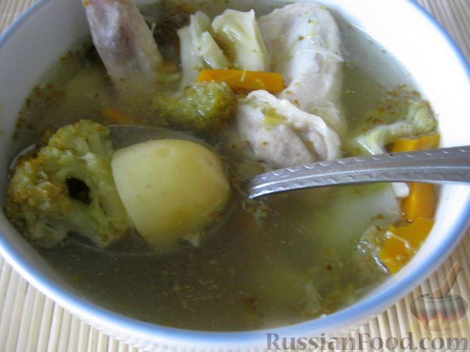 Рецепт Суп куриный с брокколи