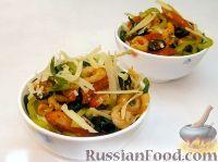 Фото к рецепту: Салат с жареными креветками и пармезаном