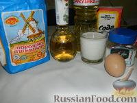 Фото приготовления рецепта: Пышные оладьи на молоке - шаг №1