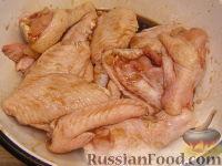 Фото приготовления рецепта: Куриные крылышки в медово-соевом соусе - шаг №3