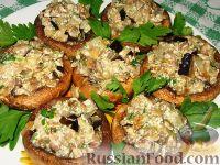Фото к рецепту: Шампиньоны, фаршированные баклажанами
