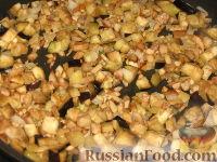 Фото приготовления рецепта: Шампиньоны, фаршированные баклажанами - шаг №3