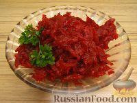 Фото к рецепту: Простейший салат из свеклы