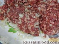 Фото приготовления рецепта: Оладьи с мясом - шаг №8