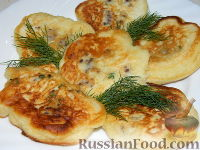 Фото приготовления рецепта: Оладьи с мясом - шаг №16