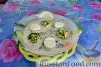 Фото к рецепту: Окрошка в ледяной тарелке
