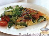 Фото к рецепту: Фриттата со спаржей и зеленым луком