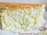 Фото к рецепту: Пышный кокосовый бисквит на кефире (в мультиварке)