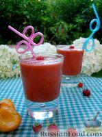 """Фото к рецепту: Малиново-абрикосовый смузи """"Лето пришло!"""""""