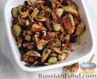 Фото к рецепту: Жареная брюссельская капуста с грецкими орехами
