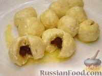 Фото к рецепту: Творожные клецки с шоколадом