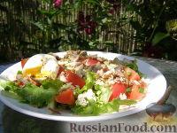 Фото к рецепту: Овощной салат с тунцом