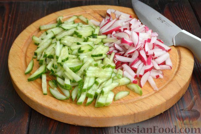 Фото приготовления рецепта: Скумбрия, запечённая с морковью и луком (в рукаве) - шаг №13