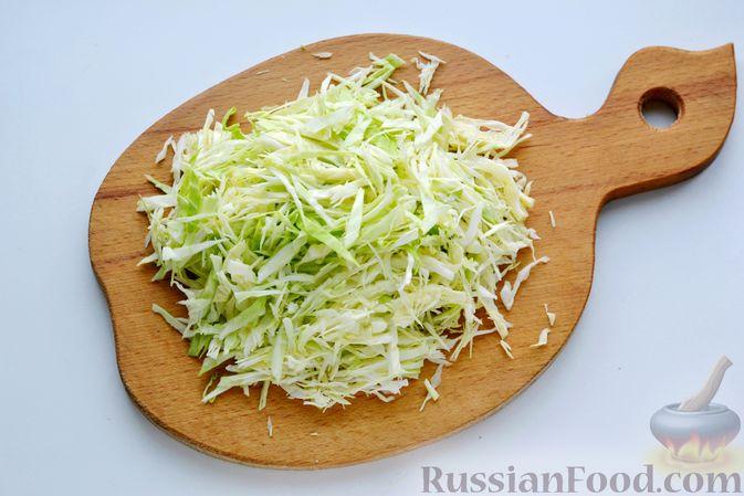 Фото приготовления рецепта: Рулет из лаваша с сельдью, свёклой, морковью и картофелем - шаг №5