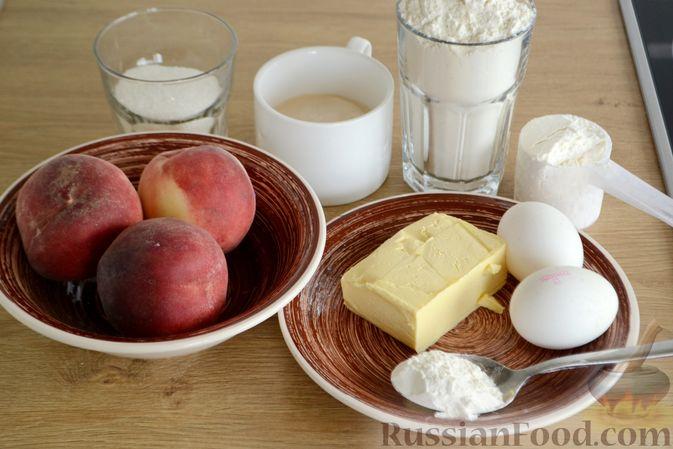 Фото приготовления рецепта: Пирог с персиками, на сметане - шаг №1