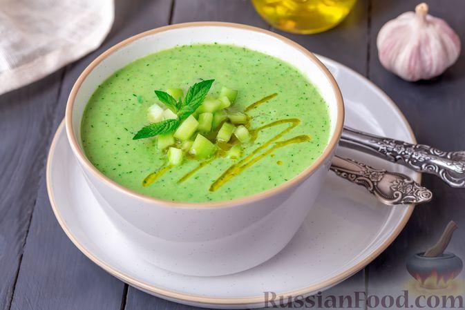 Фото приготовления рецепта: Холодный огуречный суп с йогуртом и кефиром - шаг №9