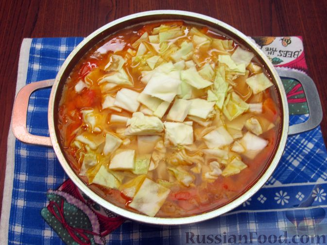 Фото приготовления рецепта: Суп «Чехословацкий» - шаг №17