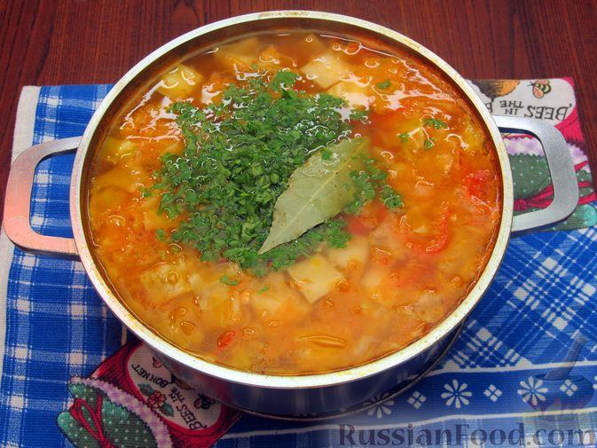 Фото приготовления рецепта: Суп «Чехословацкий» - шаг №18