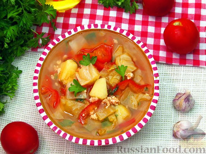 Фото приготовления рецепта: Суп «Чехословацкий» - шаг №20