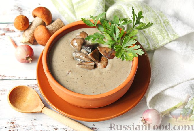 Фото к рецепту: Крем-суп из подосиновиков