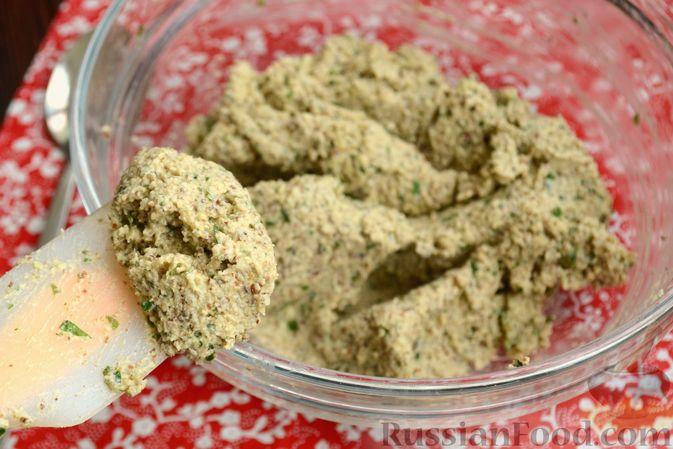 Фото приготовления рецепта: Жареные баклажаны с ореховым соусом - шаг №10