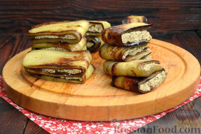 Фото приготовления рецепта: Жареные баклажаны с ореховым соусом - шаг №13