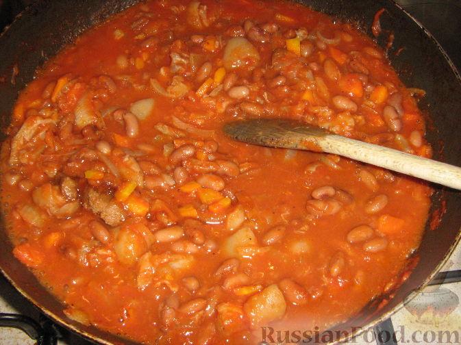 Красная фасоль со свининой рецепты с фото