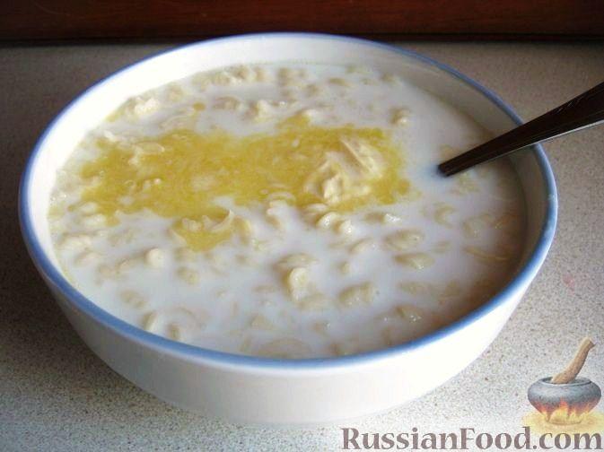 сладкие супы молочная лапша рецепт
