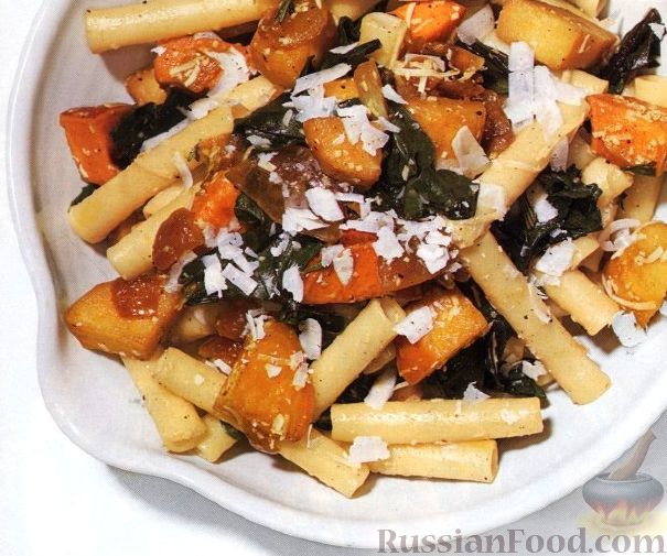 Рецепт Паста (макароны) с жареными овощами и пармезаном