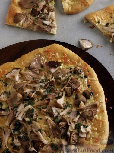 Рецепт Пицца с маринованными грибами