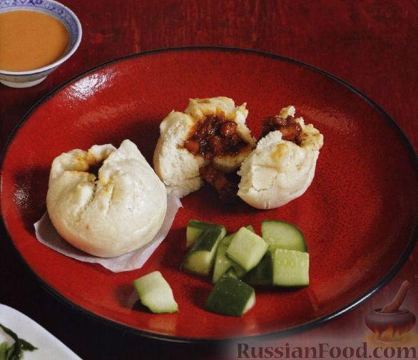 Рецепт Китайские пирожки с мясом, приготовленные на пару