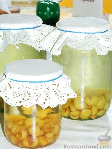 Рецепт Компот из желтой черешни на зиму