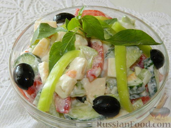 "Рецепт Салат с сыром ""Радуга"""