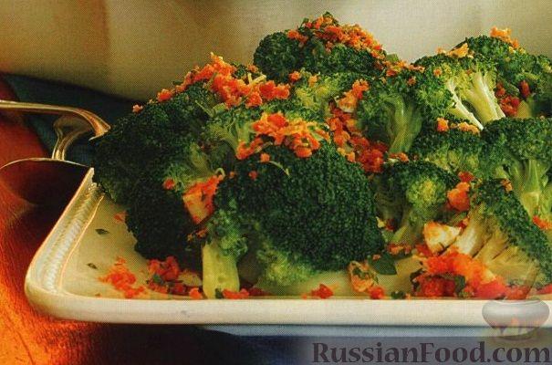 Рецепт Запеченная брокколи под хрустящей корочкой